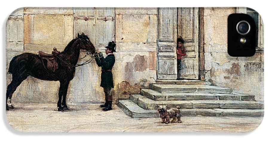 Horse IPhone 5 Case featuring the painting The Groom by Giuseppe De Nittis