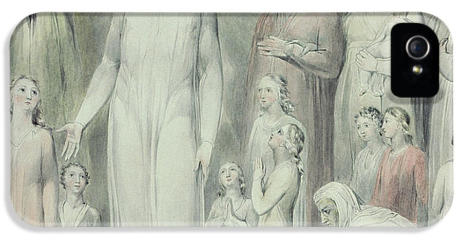 Redemption IPhone 5 Case featuring the painting The Healing Of The Woman With An Issue Of Blood by William Blake