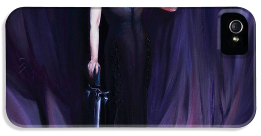 Shelley Irish IPhone 5 Case featuring the painting The Heretic by Shelley Irish