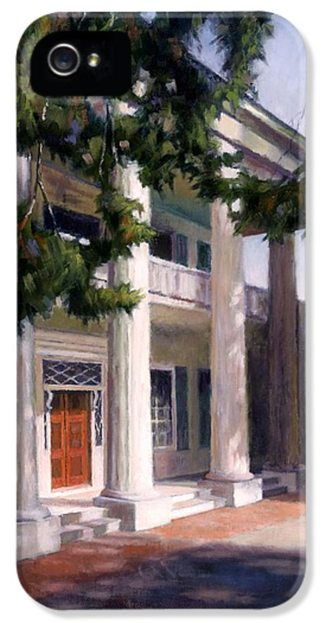 Architecture IPhone 5 Case featuring the painting The Hermitage by Janet King