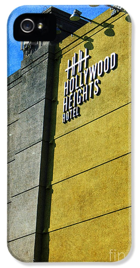 Hollywood IPhone 5 Case featuring the photograph The Hollywood Heights Hotel by Janice Rae Pariza