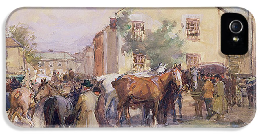 Horse IPhone 5 Case featuring the painting The Horse Fair by John Atkinson