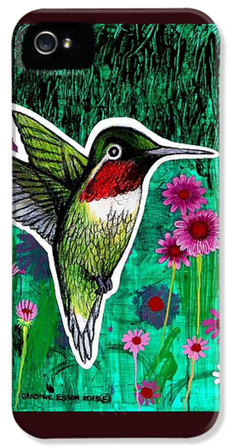 Hummingbird IPhone 5 Case featuring the painting The Hummingbird by Genevieve Esson