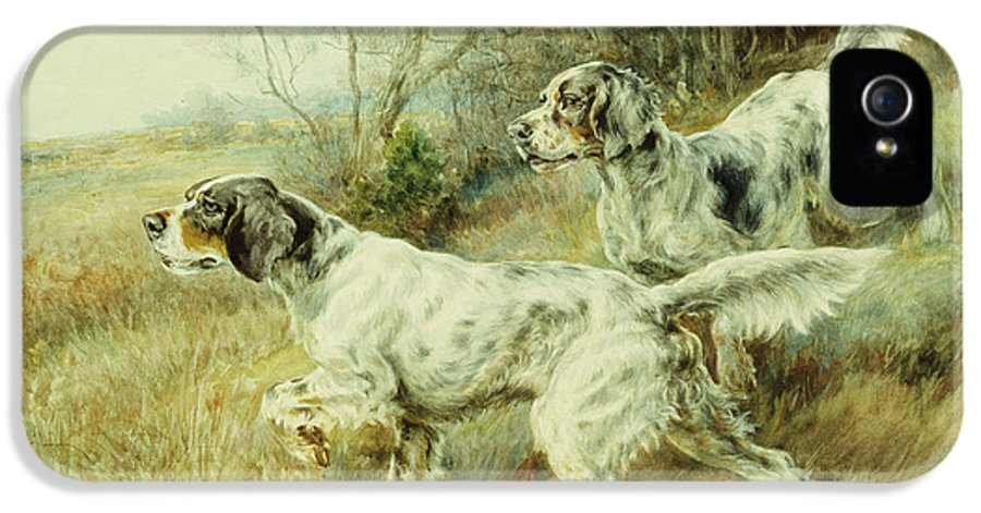 Alert IPhone 5 / 5s Case featuring the painting The Hunt by Edmund Henry Osthaus