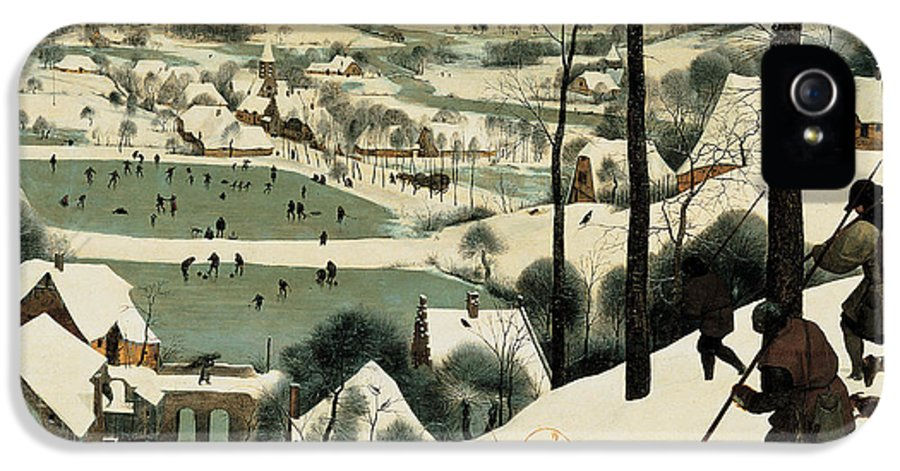 Winter IPhone 5 Case featuring the painting The Hunters In The Snow by Jan the Elder Brueghel