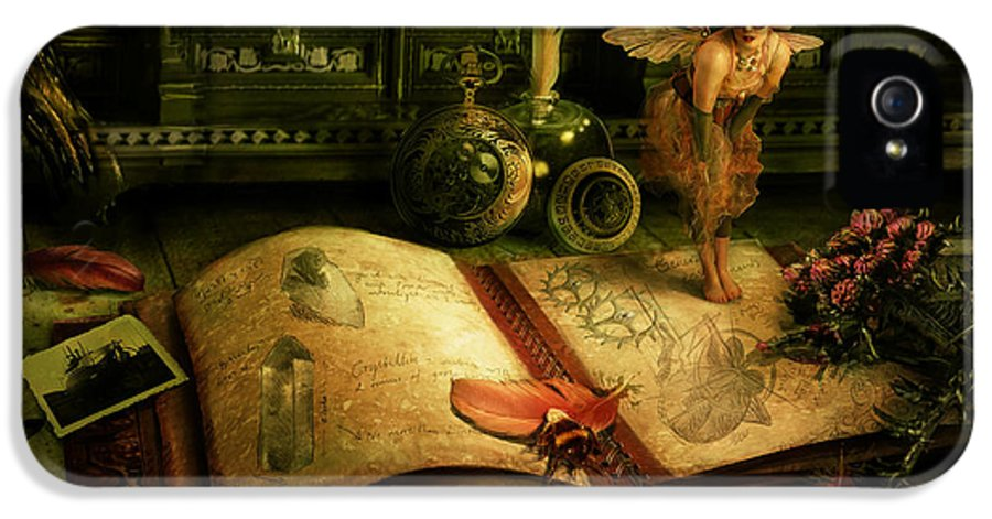 Fantasy IPhone 5 Case featuring the digital art The Journal by Cassiopeia Art