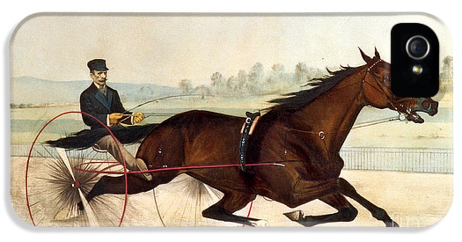 Currier And Ives IPhone 5 Case featuring the painting The King Of The Turf by Currier And Ives