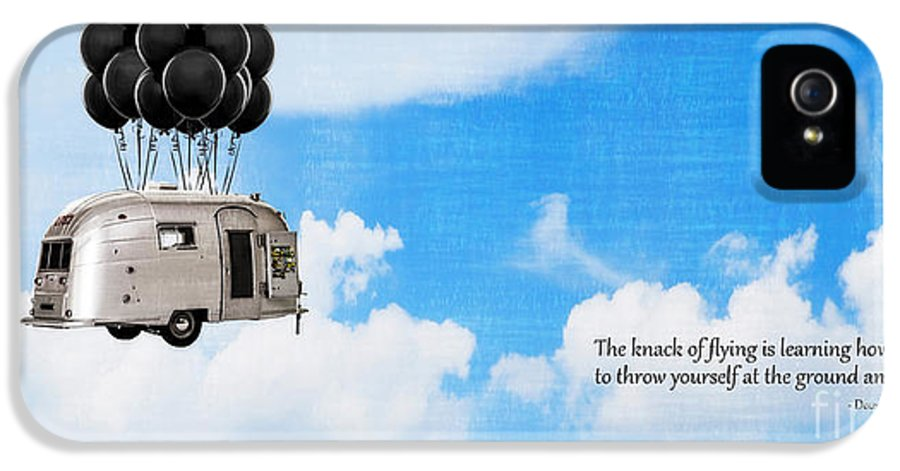 Douglas IPhone 5 Case featuring the photograph The Knack Of Flying by Edward Fielding