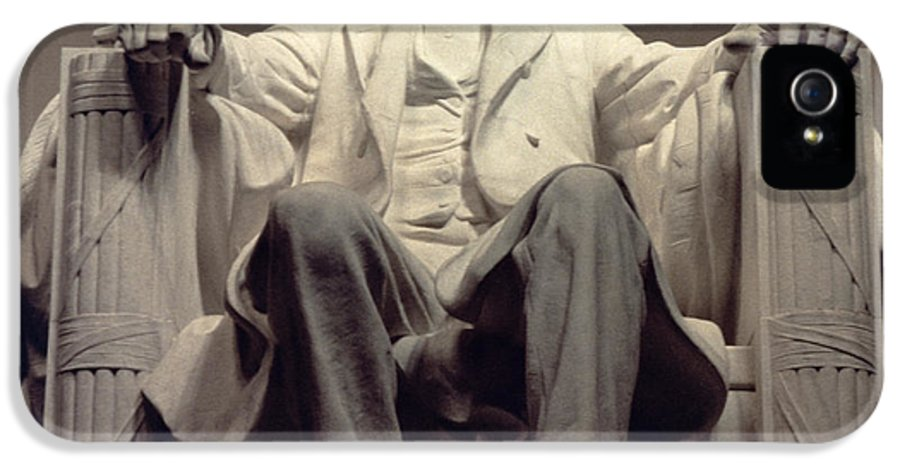 Statesman IPhone 5 Case featuring the sculpture The Lincoln Memorial by Daniel Chester French