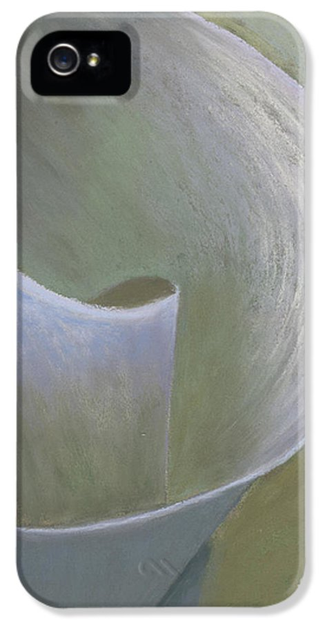 Lily IPhone 5 Case featuring the pastel The Lone Lily by Ginny Neece