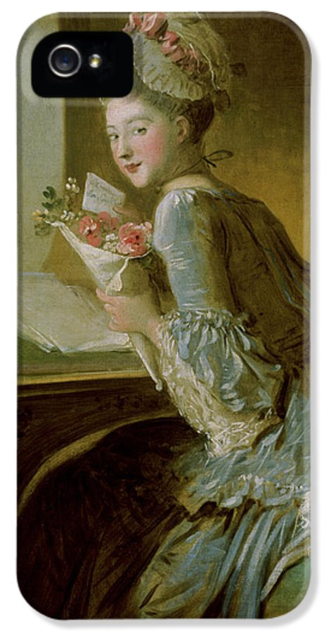 Fragonard IPhone 5 Case featuring the painting The Love Letter by Jean Honore Fragonard