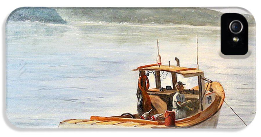 Boat IPhone 5 Case featuring the painting The Lyllis Esther by Lee Piper