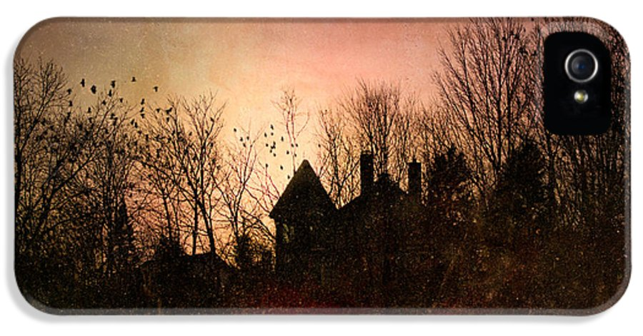 Architecture IPhone 5 Case featuring the photograph The Mansion Is Warm At The Top Of The Hill by Bob Orsillo