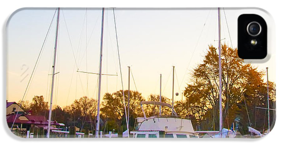 Marina IPhone 5 Case featuring the photograph The Marina At St Michael's Maryland by Bill Cannon