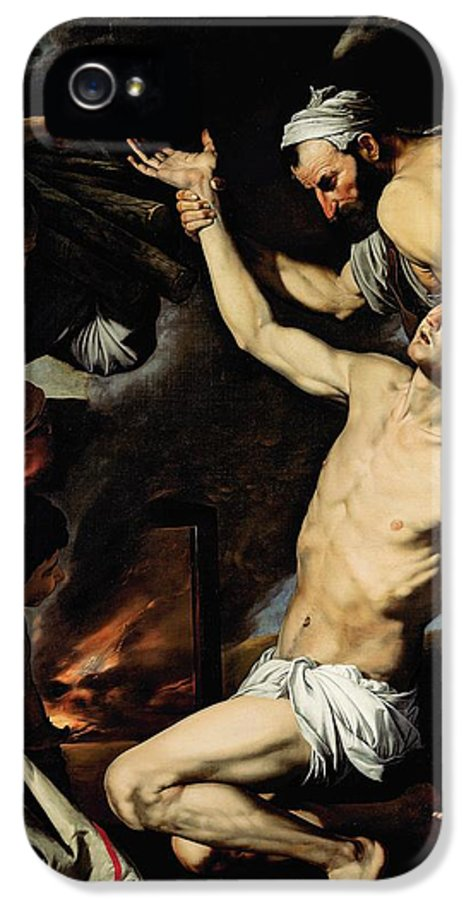 Martyr IPhone 5 Case featuring the painting The Martyrdom Of Saint Lawrence by Jusepe de Ribera