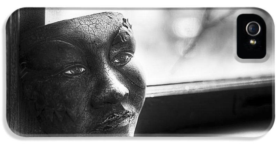 Black And White IPhone 5 Case featuring the photograph The Mask by Scott Norris