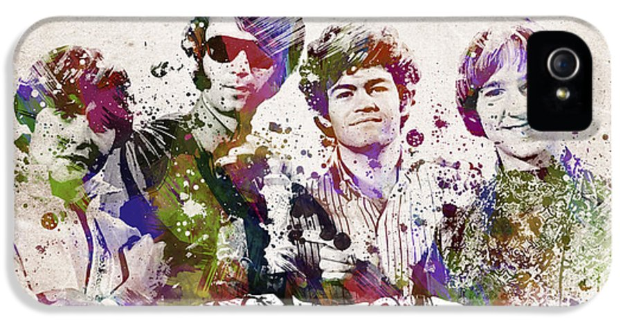 The Monkees IPhone 5 Case featuring the digital art The Monkees by Aged Pixel