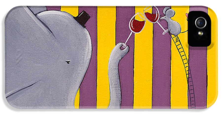 Mouse IPhone 5 Case featuring the painting The Mouse And The Elephant by Christy Beckwith