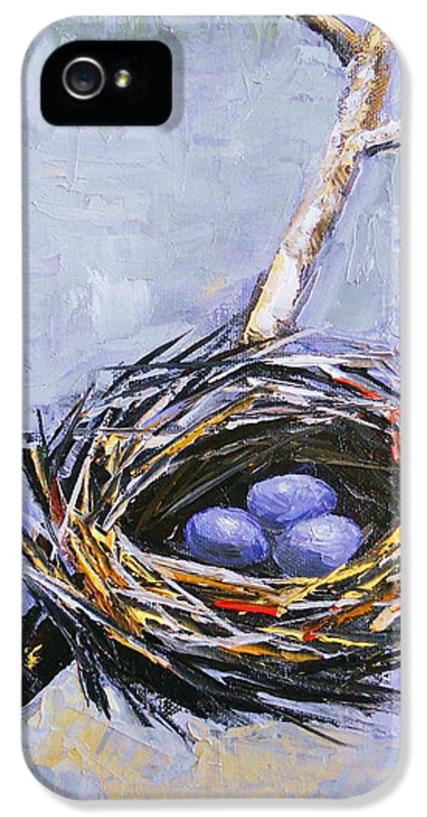 Birds IPhone 5 Case featuring the painting The Nest by Brandi Hickman