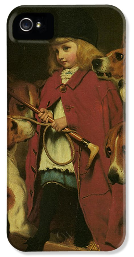 Charles Burton Barber IPhone 5 / 5s Case featuring the digital art The New Whip by Charles Burton Barber