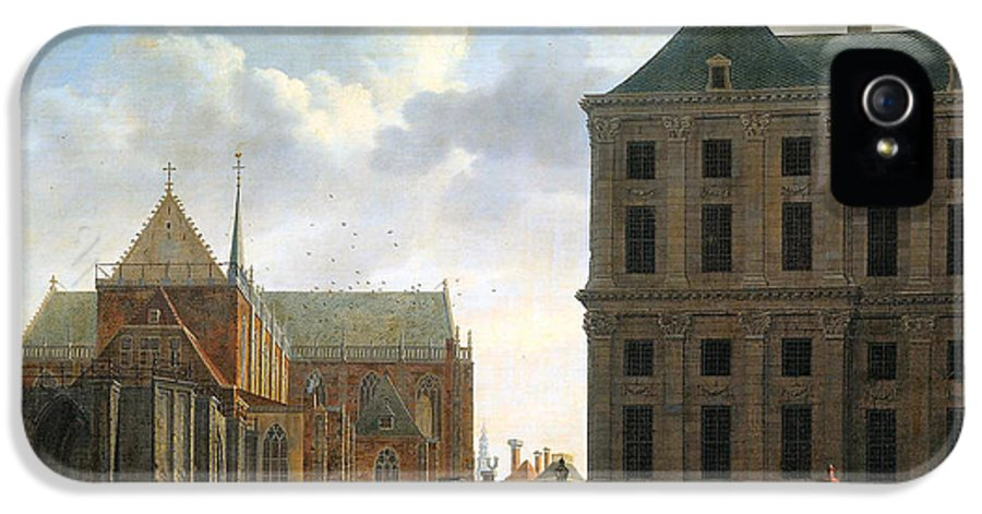The Nieuwe Kerk And The Rear Of The Town Hall In Amsterdam IPhone 5 / 5s Case featuring the digital art The Nieuwe Kerk And The Rear Of The Town Hall In Amsterdam by Isaak Ouwater