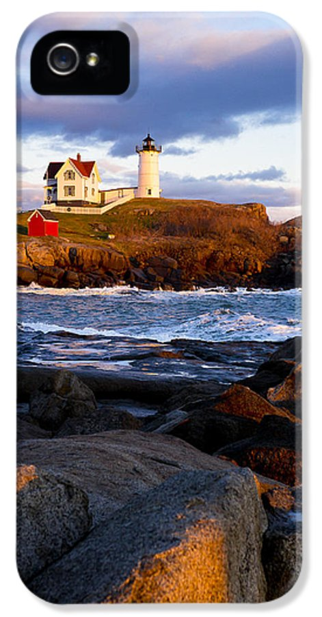 Lighthouse IPhone 5 Case featuring the photograph The Nubble Lighthouse by Steven Ralser