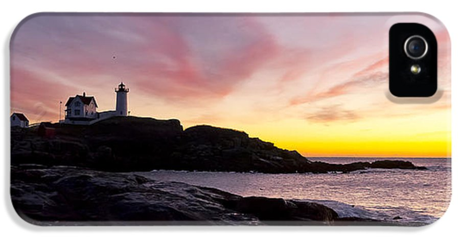 Lighthouse IPhone 5 Case featuring the photograph The Nubble by Steven Ralser