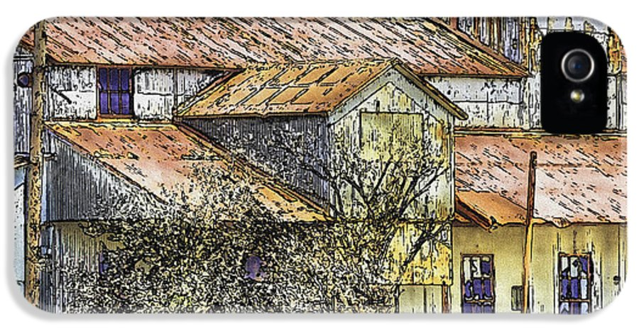 Digital Ink And Wash IPhone 5 Case featuring the painting The Old Cotton Barn by Barry Jones
