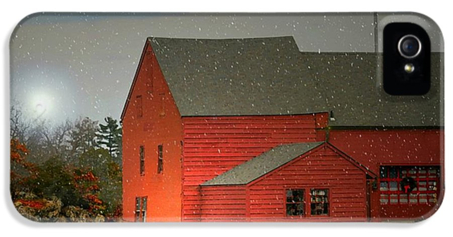 Home IPhone 5 Case featuring the photograph The Old Mill Kirby Pond by Diana Angstadt