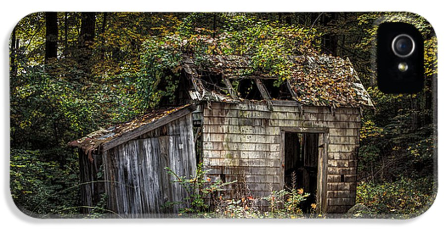 Rustic IPhone 5 Case featuring the photograph The Old Shack In The Woods - Autumn At Long Pond Ironworks State Park by Gary Heller