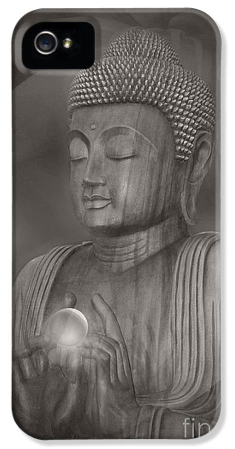 Buddha IPhone 5 Case featuring the photograph The Path Of Peace by Sharon Mau