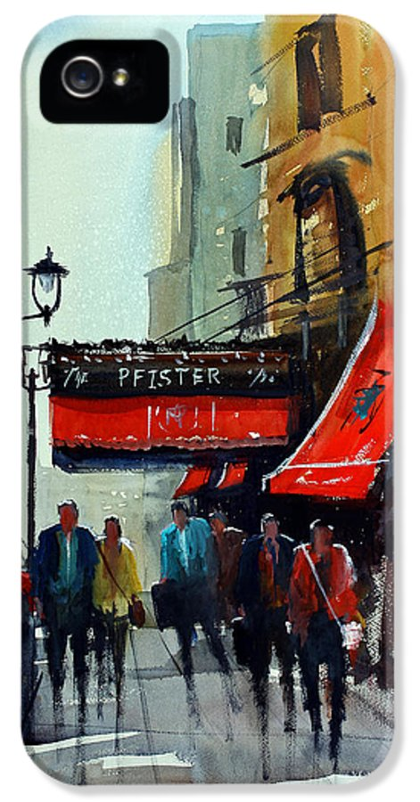The Pfister IPhone 5 Case featuring the painting The Pfister 2 - Milwaukee by Ryan Radke