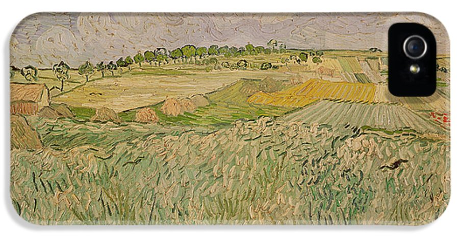 Field IPhone 5 Case featuring the painting The Plain At Auvers by Vincent Van Gogh
