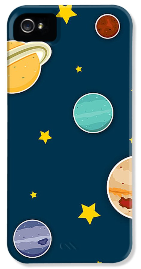 Planets IPhone 5 Case featuring the digital art The Planets by Christy Beckwith