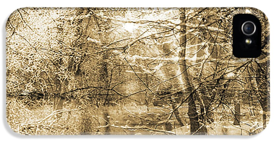 IPhone 5 Case featuring the mixed media The Pond by Yanni Theodorou
