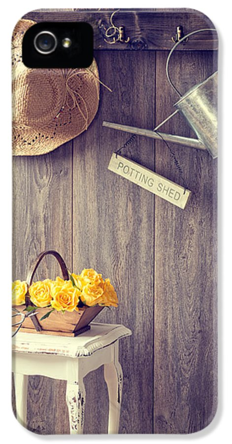 Potting Shed IPhone 5 Case featuring the photograph The Potting Shed by Amanda Elwell