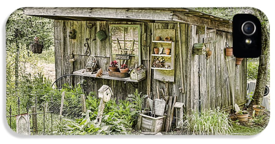 Gardener IPhone 5 Case featuring the photograph The Potting Shed by Heather Applegate