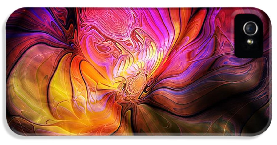 Digital Art IPhone 5 Case featuring the digital art The Quilt by Amanda Moore