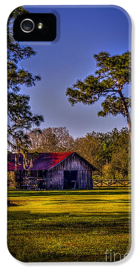 Red Roof IPhone 5 Case featuring the photograph The Red Roof Barn by Marvin Spates