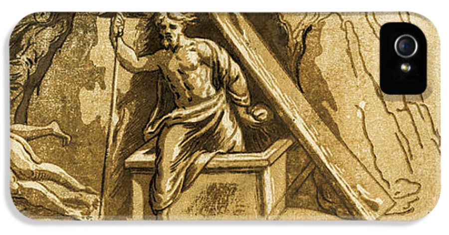 The Resurrection IPhone 5 Case featuring the digital art The Resurrection by Aged Pixel