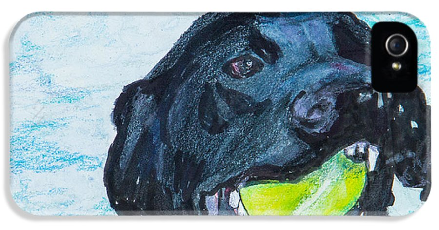 Labrador Retriever IPhone 5 Case featuring the painting The Retrieve by Roger Wedegis