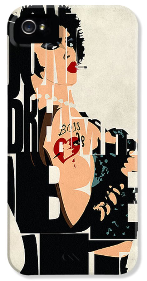 Dr. Frank-n-furter IPhone 5 Case featuring the painting The Rocky Horror Picture Show - Dr. Frank-n-furter by Ayse Deniz