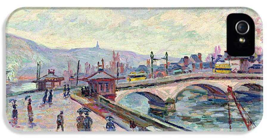River IPhone 5 Case featuring the painting The Seine At Rouen by Jean Baptiste Armand Guillaumin