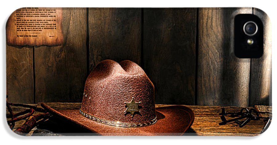 Sheriff IPhone 5 Case featuring the photograph The Sheriff Office by Olivier Le Queinec