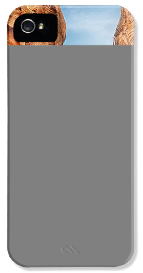 Siq IPhone 5 Case featuring the pyrography The Siq by Jelena Jovanovic
