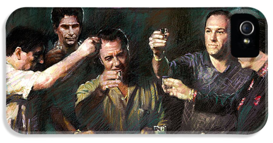 The Sopranos IPhone 5 Case featuring the drawing The Sopranos by Viola El