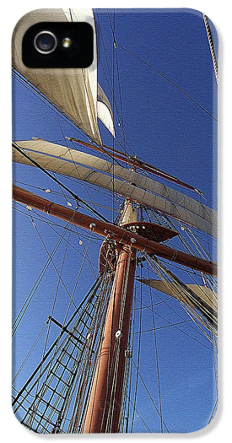 Nautical IPhone 5 Case featuring the photograph The Star Of India. Mast And Sails by Ben and Raisa Gertsberg