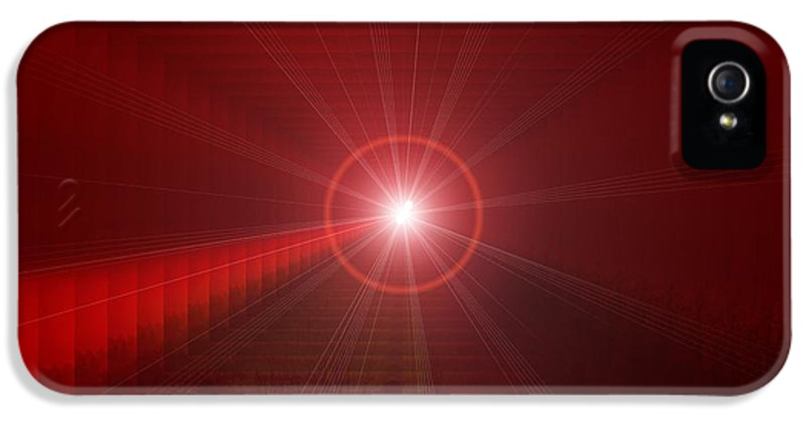 Abstract IPhone 5 Case featuring the photograph The Star Tunnel by Jeff Swan