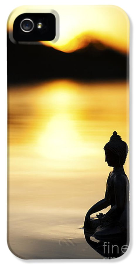 Buddha IPhone 5 Case featuring the photograph The Stillness Of Sunrise by Tim Gainey