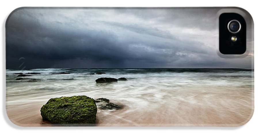 Beach IPhone 5 Case featuring the photograph The Storm by Jorge Maia